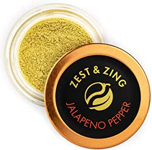 Zest & Zing Pimiento Jalapeño (Molido), Tarro De Especias De 20 G - Chiles Premium De Zest & Zing. Tarros De Especias Más Frescos, Convenientes Y Apilables. 124 g
