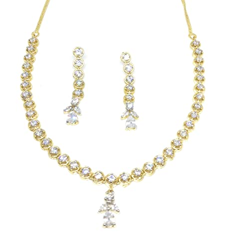 Buy Youshee Fashion American Diamond Combo Green White Necklace Set Jewellery Set With A D Stone For Women And Girls Online At Low Prices In India Amazon Jewellery Store Amazon In