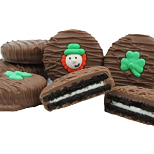 Philadelphia Candies Milk Chocolate Covered OREO Cookies, St. Patrick's Day Gift Net Wt 8 oz