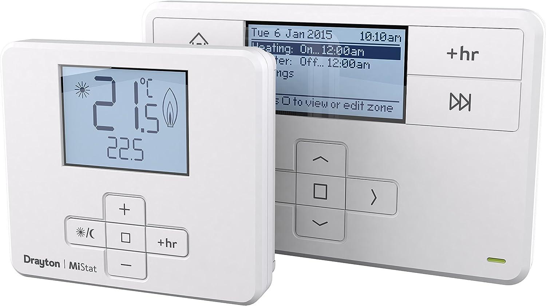 Drayton mitime RF unidades 2t720r 2Canal Programador cartucho termostato inalámbrico para habitación