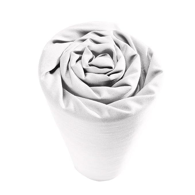 Drap housse pour lit articulé 100% percale de coton Blanc Uni 2 x 80 x 200 cm