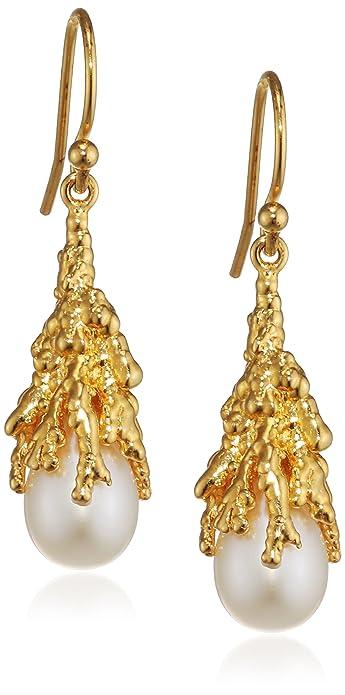 Ornella Iannuzzi Coralline Reef Gold Plated Sterling Silver Drop Earrings OnSAlE