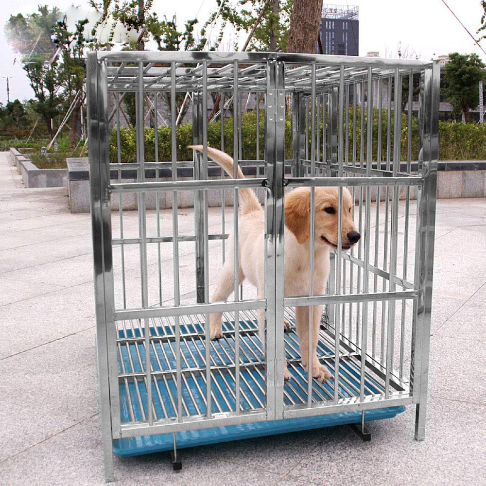 WENFF Jaula Metálica para Perros Porta Perros con Bandeja Jaula ...