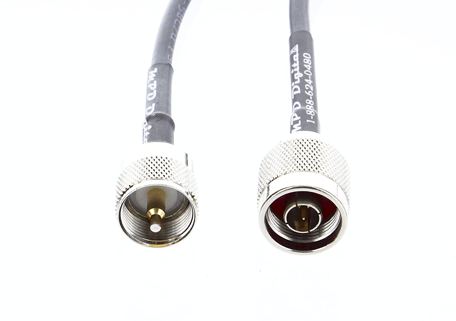 Amazon.com: MILSPEC RG-213 Coaxial Jumper N Male to PL-259 Male Coax Connectors for Ham CB UHF VHF RF - RG213 213 MIL-C-17 M17/163A RG-213U Coaxial Cable ...