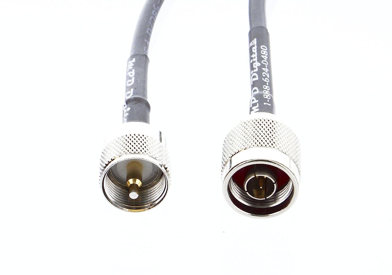 Amazon.com: MILSPEC RG-213 Coaxial Jumper N Male to PL-259 Male Coax Connectors for Ham CB UHF VHF RF - RG213 213 MIL-C-17 M17/163A RG-213U Coaxial Cable ...