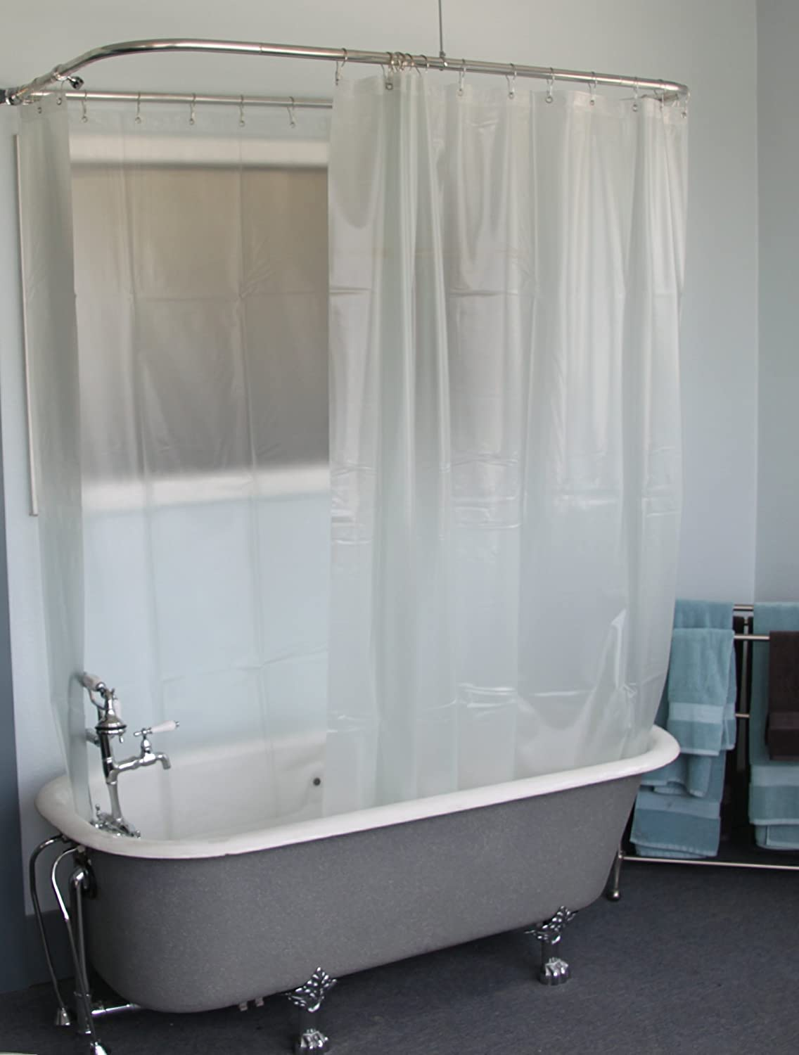 Shower curtains for clawfoot tubs curtain menzilperde net for Clawfoot tubs with shower