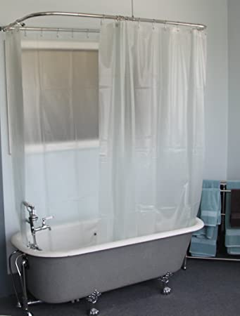 Curtains Ideas claw foot tub shower curtain : Amazon.com: Extra Wide Vinyl Shower Curtain for a Clawfoot Tub ...