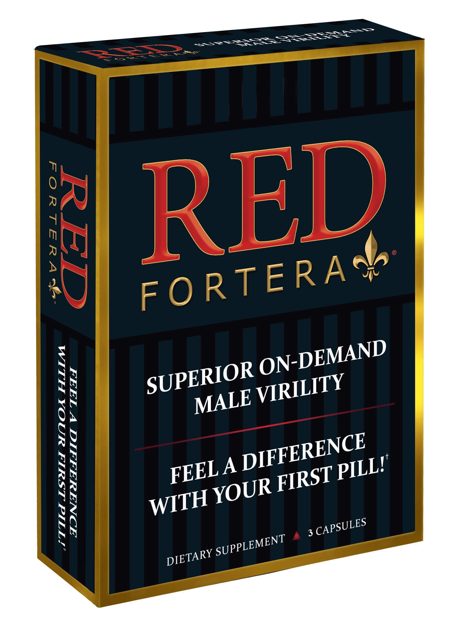 Clinically Tested Red Fortera 3 Pack - Fast Acting Tribulus Energy Performance Booster   Increase Performance and Stamina On-Demand