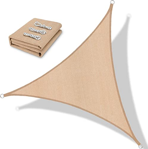 BOLTLINK Triangle Sun Shade Sail 16'x 16'x 20'Canopy UV Block