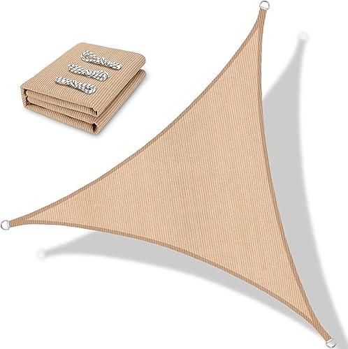BOLTLINK Triangle Sun Shade Sail 16'x 16'x 20'Canopy UV Block