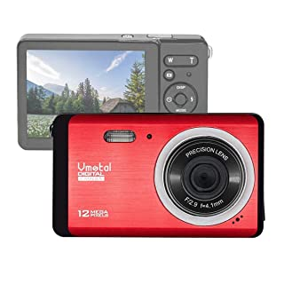 Mini Kids Camera, Vmotal 12MP 2.8 inch TFT LCD Screen Rechargeable Digital Camera, Lightweight Point Shoot Camera for Beginners   Halloween, Holiday and Birthday Gift for Kids and Students (Red)