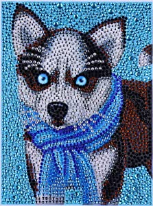 ZSNUOK 5D DIY Diamond Painting by Number Kit for Mothers Day Gifts, Full Special Shaped Drill Embroidery Arts Craft Mosaic Making Supplies Paint with Diamonds for Home Wall Decor Cute Dog 8X10 inch