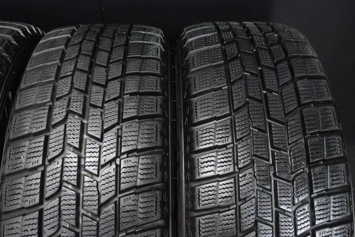 195/55R15 15インチ 6 195/55R15 DEZENT 15x6.0 38 スタッドレスタイヤ 100-5穴 中古タイヤ グッドイヤー ホイールセット4本セット アイスナビ