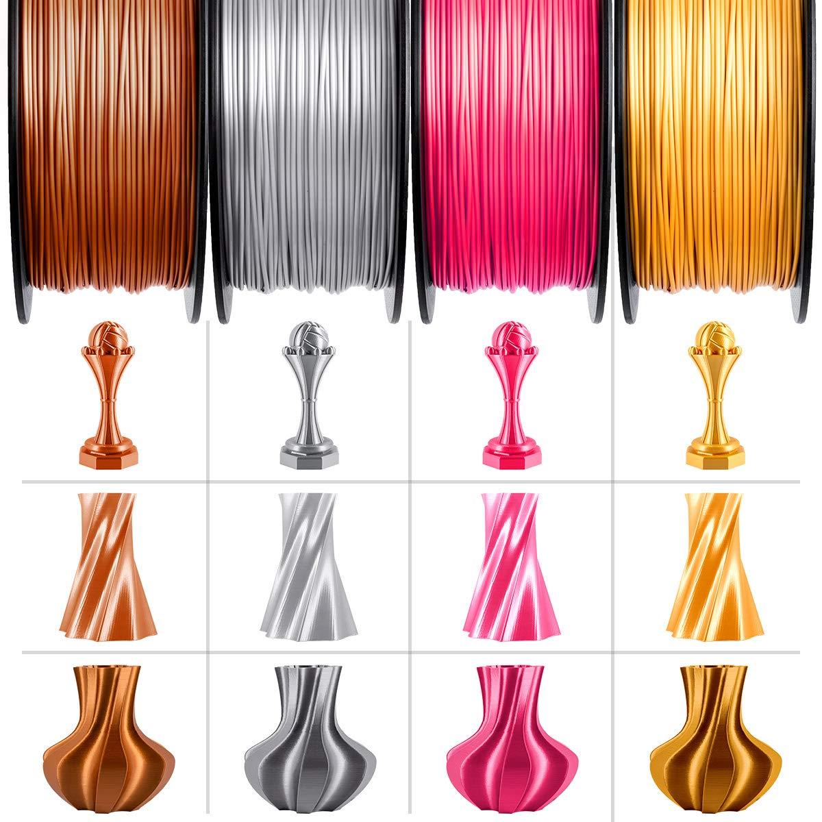 GIANTARM Filamento PLA 1.75mm Silk Dorado Impresora 3D PLA Filamento 1 kg Carrete