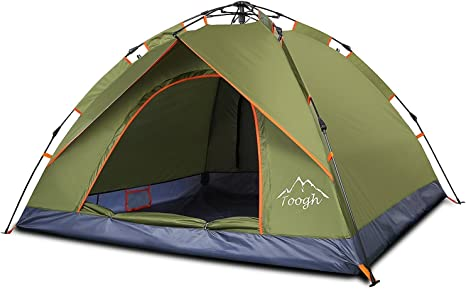 Toogh 2 3 Person Family Camping Tent 3 Seasons Backpacking Tents Sun Dome Automatic Pop Up Outdoor Sports Tent