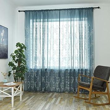 Turkei Vorhang Blumenmuster Voile Blumen Fenster Zimmer