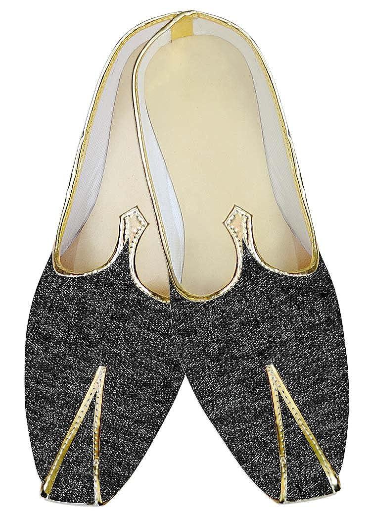 INMONARCH Hombres Gris Terciopelo Yute Zapatos de Boda MJ09369 39 EU