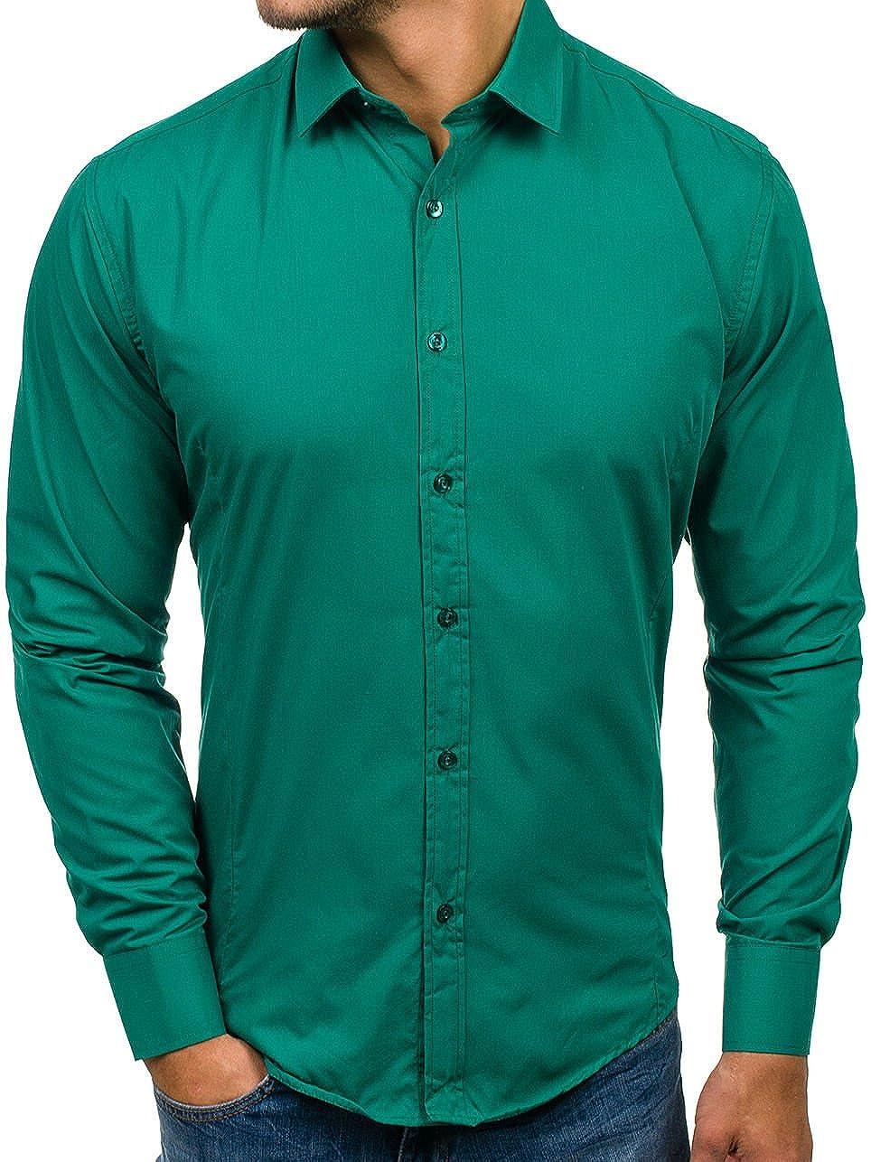 BOLF Camicia Casual - Maniche Lunghe 1703-1 - Uomo
