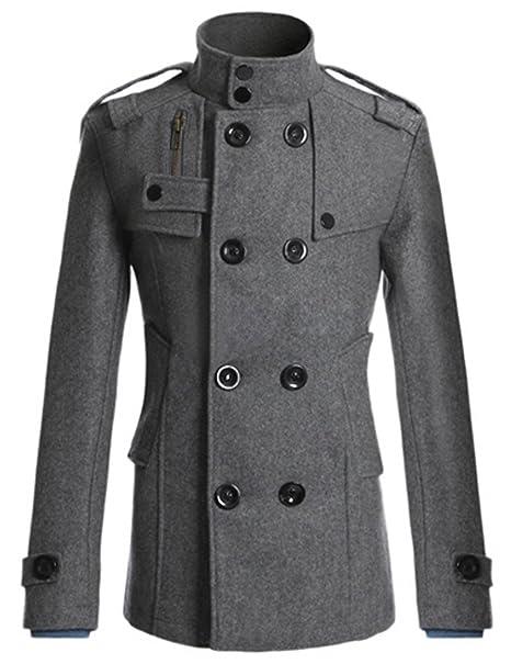 Amazon.com: PAUL JONES Chaqueta clásica de doble lana para ...