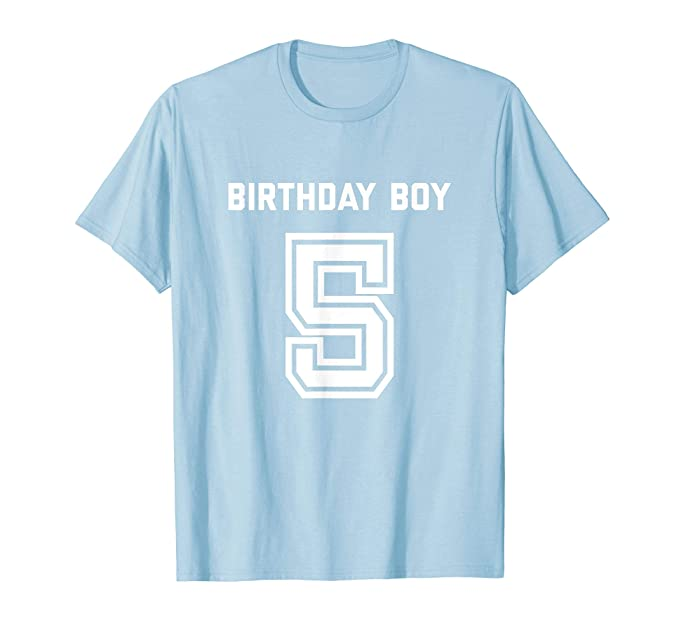 Mens 5th Birthday Shirt Gift Boys Five Age 5 Year Boy Son Nephew 2XL Baby Blue