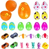 Easter Eggs - Meland 12 Pack Adorable Easter Eggs Set with Mini Toys for Kids