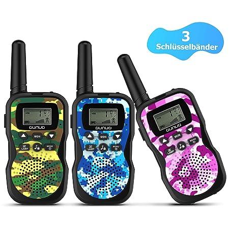 OUNUO Walkie Talkie Kinder Spy-Gear Spielzeuge Funkgeräte?2019 Modell? 8 Kanäle 4KM Reichweite 10 Klingeltöne LCD Bildschirm