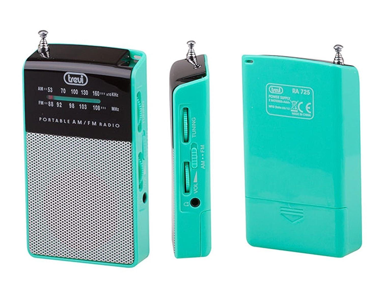 Trevi RA 725 Color fucsia FM anal/ógica de bolsillo con altavoz incorporado Radio AM