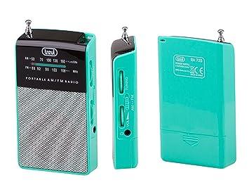 Trevi RA 725 - Radio AM / FM analógica de bolsillo con altavoz incorporado - Color verde: Amazon.es: Electrónica