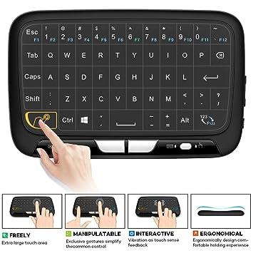 Mini teclado, teclado táctil inalámbrico, touchpad completo, 2,4 GHz, mini teclado inalámbrico, ratón de pantalla ...