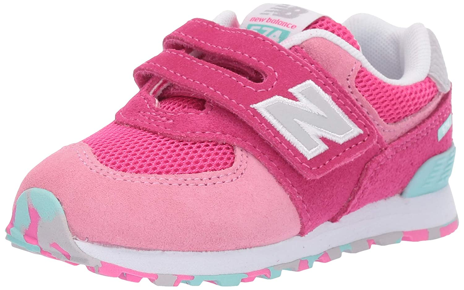 quality design addd6 88e77 Amazon.com   New Balance Kids  Iconic 574 Hook and Loop Sneaker   Shoes