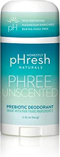 product image for Honestly pHresh- Natural Deodorant for Women and Men - Vegan, Gluten Free, Aluminum Free & Paraben Free, Naturally Derived Ingredients Baking Soda Free Deodorant (Unscented)