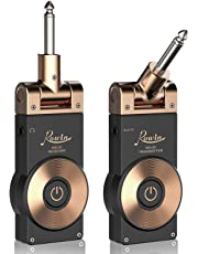 Rowin 2.4GHZ Rechargeable Guitar Wireless Transmitter Receiver Wireless Guitar System with Battery Indicator Function (Golden Plug)
