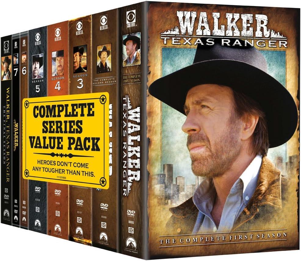 Walker Texas Ranger The Complete Series Amazon Ca Norris Chuck Gilyard Clarence Willingham Noble Dvd