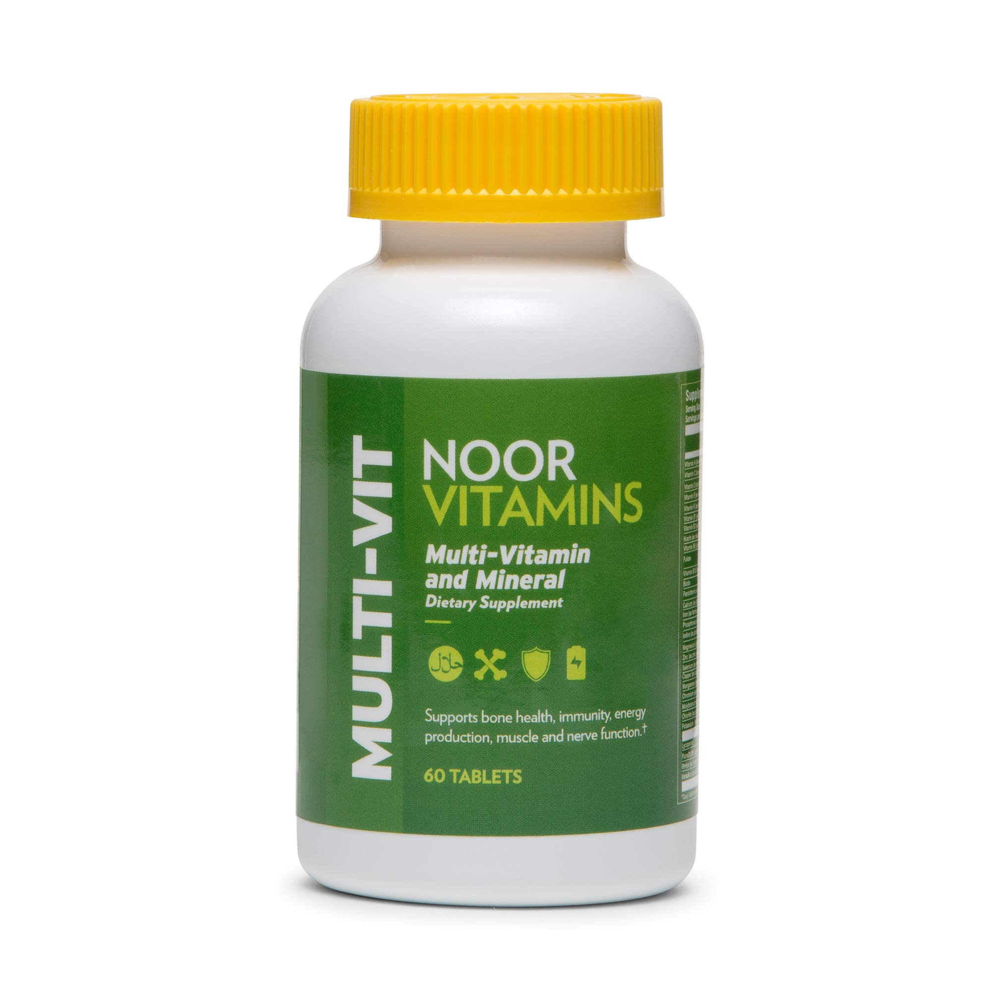 NoorVitamins Daily Adult Multivitamin Supplement w/ 30 Vitamins & Minerals including A, C, D, E, Biotin & Zinc to support general health for Men & Women I Non-GMO I Halal Multivitamin (2 Month Supply)                NoorVitamins Kids Formula Daily Gummy Multivitamin: Vitamin C, D3, and Zinc for Immunity, B6 & B12 for Energy. Non-GMO, Allergen & Gluten Free Halal Gummy - 90 Count (45-90 Day Supply: Age Dependent)                NoorVitamins Vitamin D3 5000 IU Softgels I Supports Bone, Immune, Heart & Mood Health I Pure Vitamin D From Safflower Oil To Maximize Absorption I All Natural, Non-GMO, Gluten Free & Halal (60 count)                NoorVitamins Ultra Omega-3 Wild Peruvian Fish Oil (2000mg/serving) w/ 800mg EPA & 400 mg DHA | Heart, Brain & Joint Support | Non-GMO & Gluten Free | Halal Vitamins (120 count – 2 month supply)