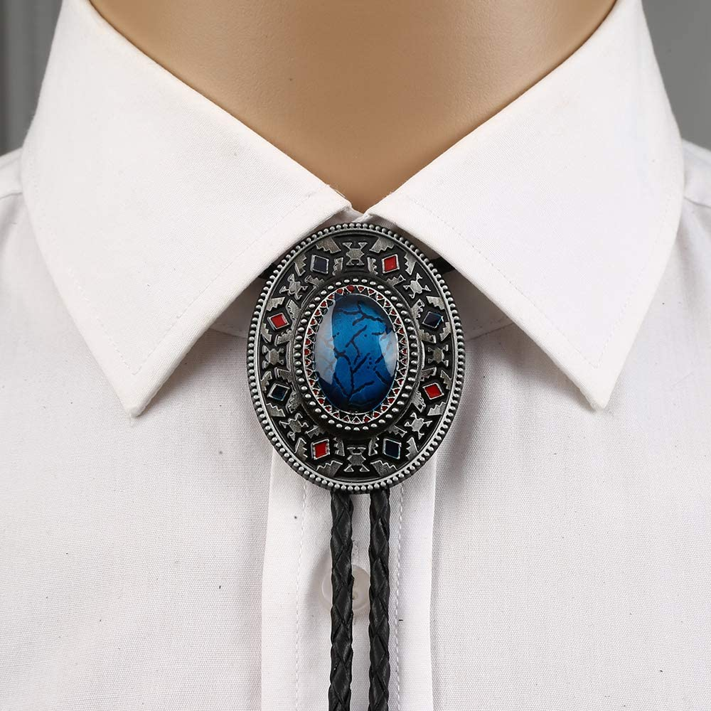 KDG Native American Southwest Western Cowboy Bolo Tie for Man Vintage Indian material
