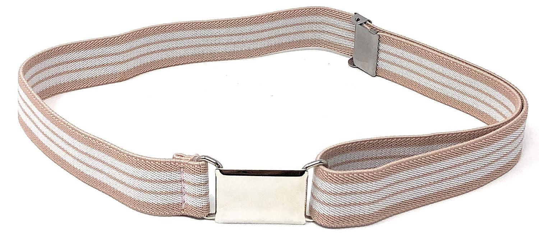 Rusoji 5pc Girls Mixed Design Adjustable Elastic Belts with Easy Buckle Clasp