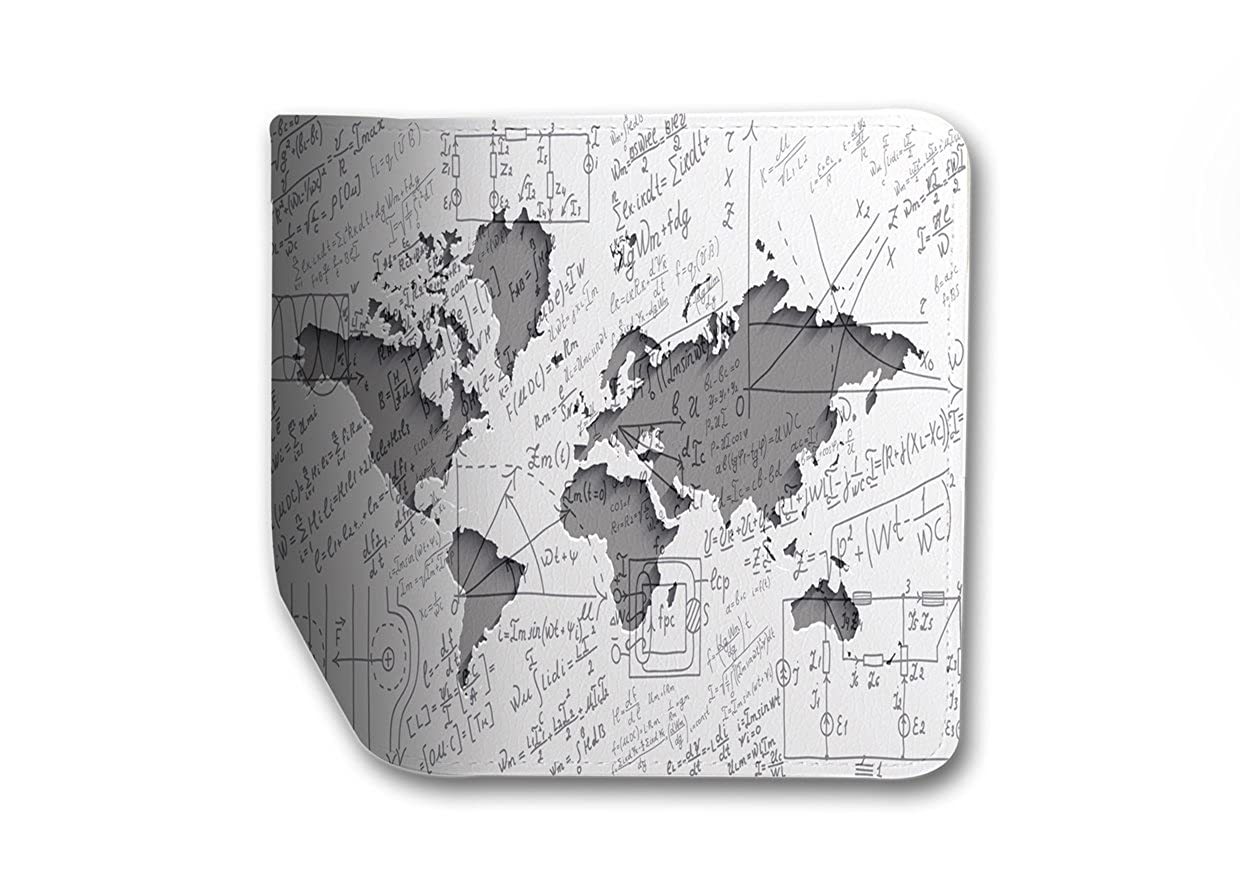 World Map Mathemethic Leather Business Passport Holder Protector Cover/_SUPERTRAMPshop