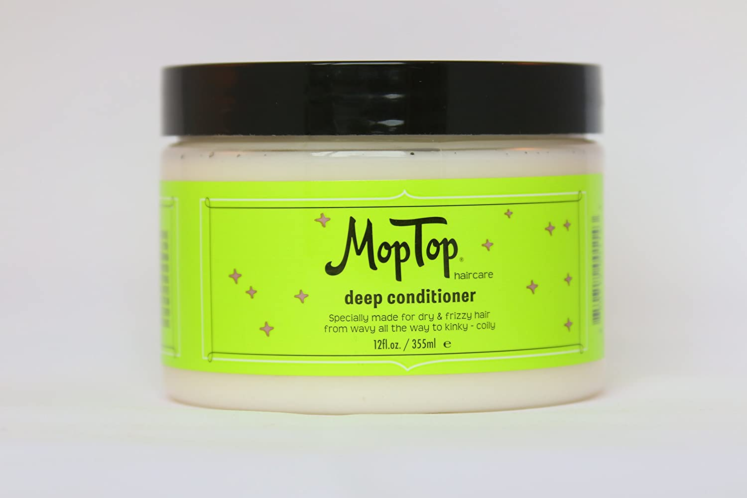 12oz Deep Conditioner, Wavy, Curly & Kinky-Coily, Color or Chemically Treated & Natural Hair Moisturizing Mask, made w/ Aloe, Sea Botanicals & Honey that reduces Frizz, increases Moisture & Manageability for S