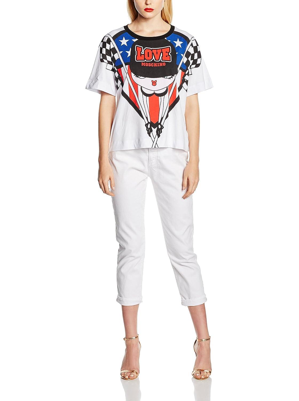 Moschino Camiseta W F16 Las Cortas Con Mujer M 3517 Love 01 Mangas 4 dB0wn4