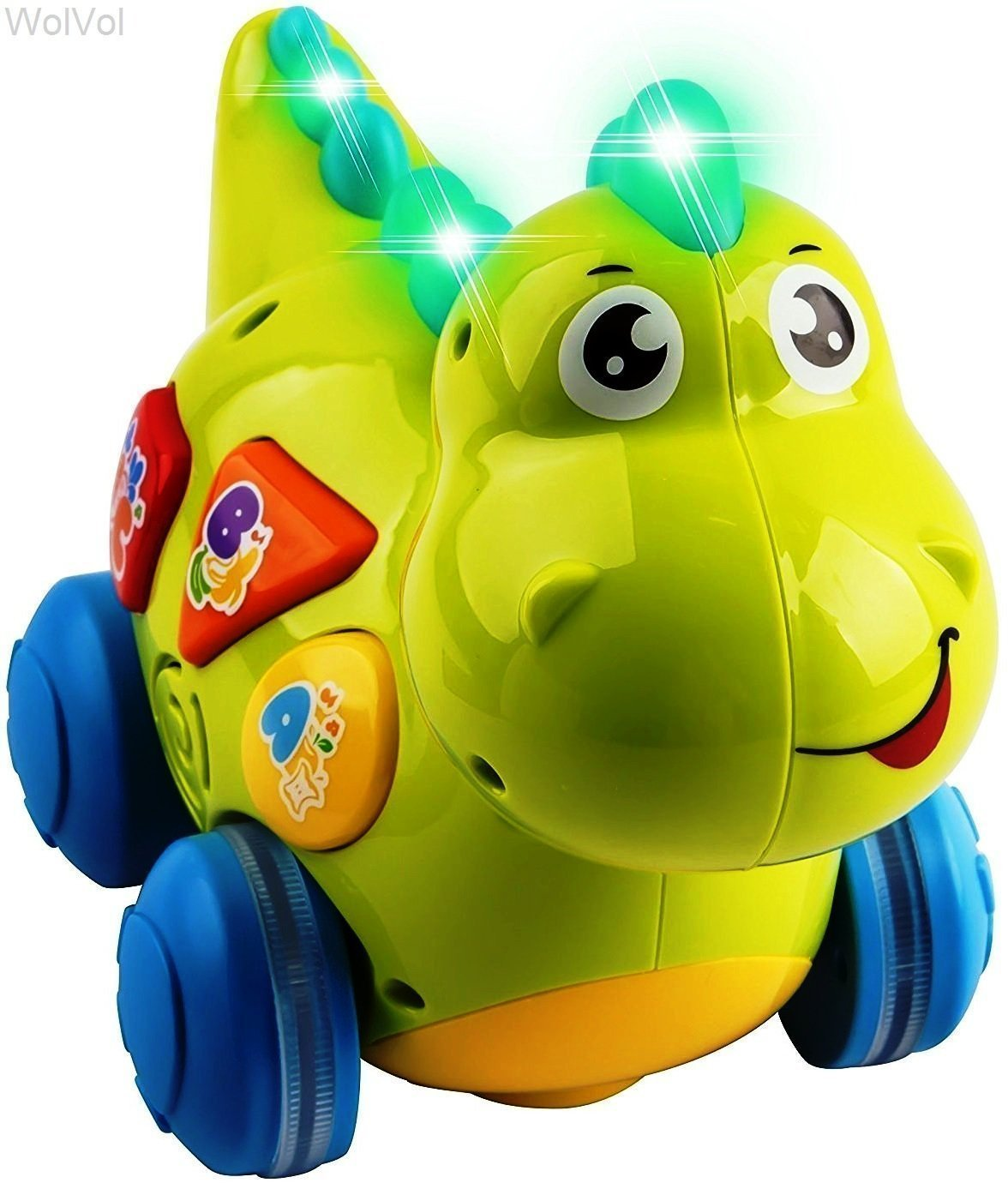 WolVol Talking Dinosaur Toy with Lights and Sounds for Kids - Teaching, Learning, Activity, Walking & Fun Action by WolVol
