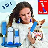 Dogante Durable lint remover brush – double-sided – best for removing lint, hair, fur and dust from clothes, pet, Dog, car seat, carpet, and bed – includes a travel size lint remover and free comb