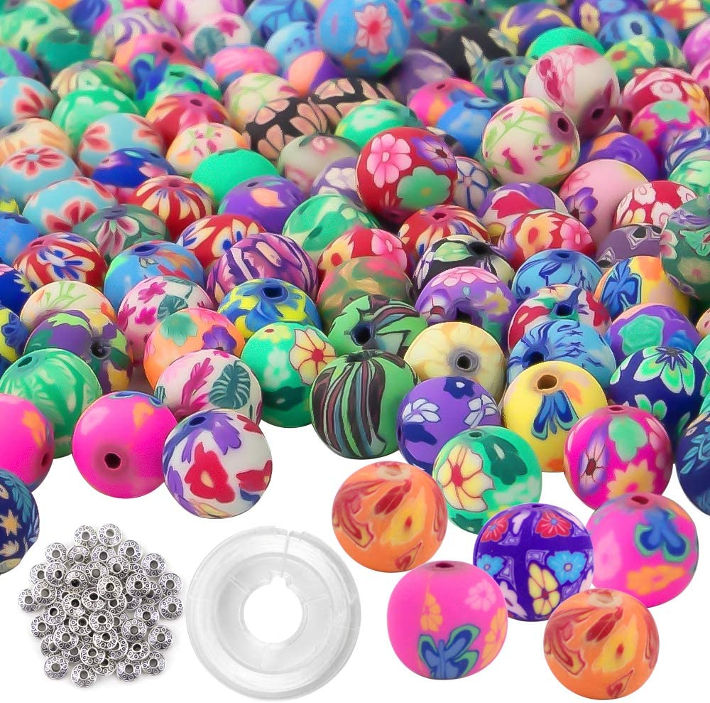 100 Mixed Color Fimo Polymer Clay Fruit Spacer Beads G8N5