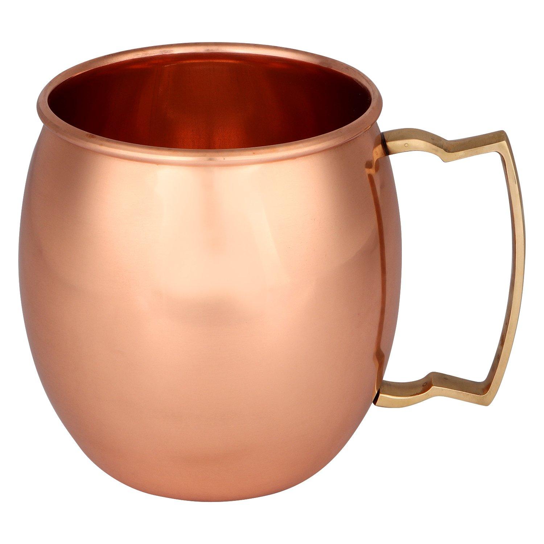Zap Impex /® Rame Puro Moscow Mule Cup Senza Rivestimento Ideale per Tutti i gekuehlten Bevanda blendend Intrattenere e Bar o a casa Grande Bar Regalo Set di 2 Rame Puro