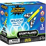 Stomp Rocket Stunt Planes Refill Pack, 1 Wildcat Plane, for Boys and Girls - Outdoor Rocket  Ages 5 (6, 7, 8) and up