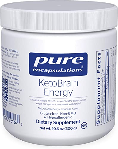 Pure Encapsulations – KetoBrain Energy – Hypoallergenic Supplement Supports Brain Function, Weight Management, and Athletic Endurance – 10.6 Ounces