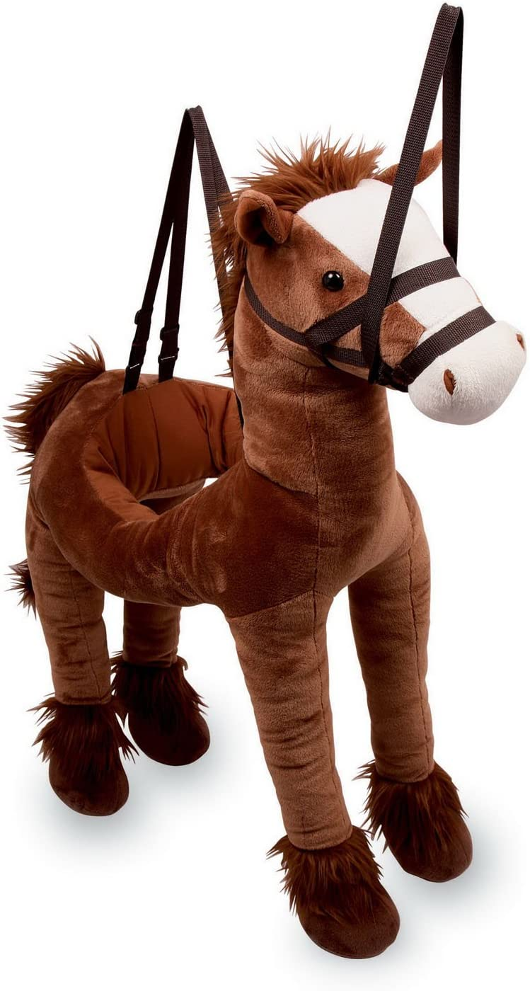 Small Foot Design 6326 - Caballo de peluche en bandolera