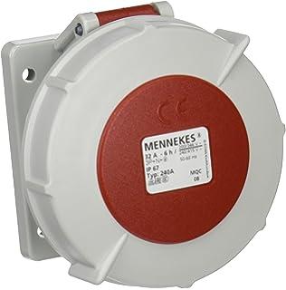 400/V IP 67/Schutz 5/Pole Unternehmen 32/A rot Mennekes 6/Stunden Earth Position 300/amv-top einzelnen Teil K/örper Stecker