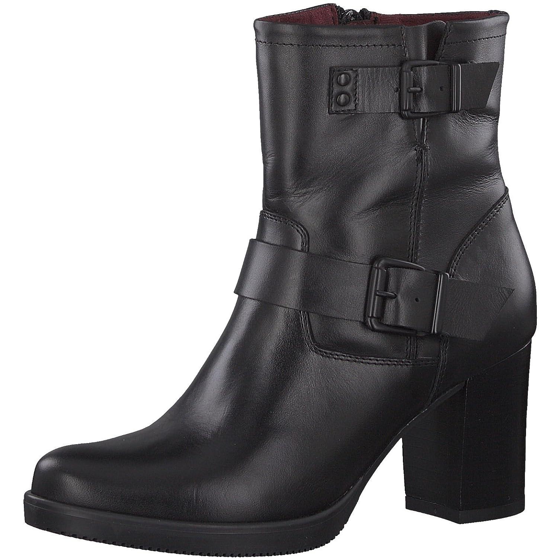 Tamaris Damen Stiefelette 25484-31 Frauen Stiefel Stiefel Halbstiefel Damenstiefelette Stiefelie Reißverschluss Blockabsatz 8cm