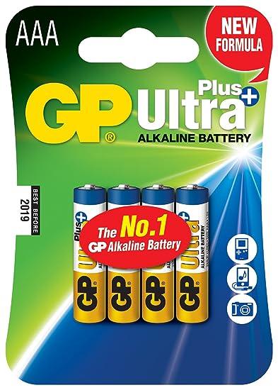 63d6ccac760bb Amazon.com: GP Alkaline Battery AAA/LR03 1.5v Ultra+ Pack 4 [GP-ALK ...