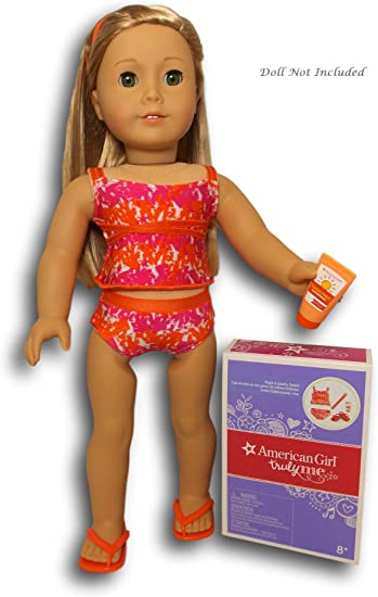 American Girl Doll Bright /& Splashy Beach Swimsuit Tankini Bathing Suit NEW!